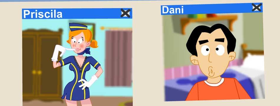 Ilustración de una de las animaciones de CuidadoConLaWebcam.com