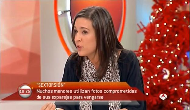 Ofelia Tejerina habla sobre el sexting y otros problemas de la imagen, en Antena3