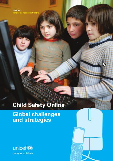 Portada del estudio de UNICEF sobre seguridad de los niños en Internet
