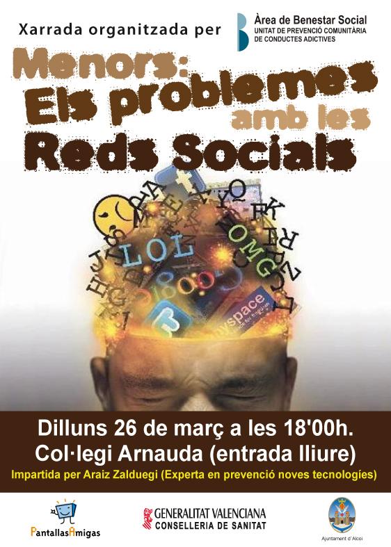 Menores: problemas en las redes sociales. Charla en Alcoi (Alicante), de PantallasAmigas