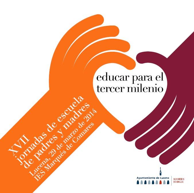 Cartel de las jornadas de escuela de padres y madres de Lucena