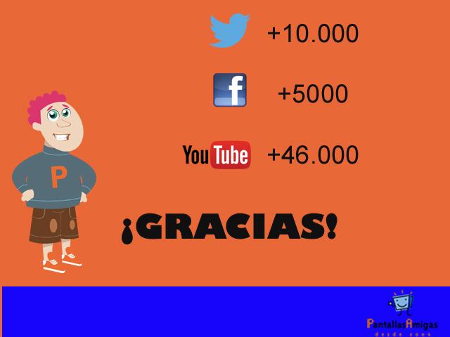Gracias- Redes-Sociales-Pantallas-Amigas-twitter-facebook-Youtube-seguidores