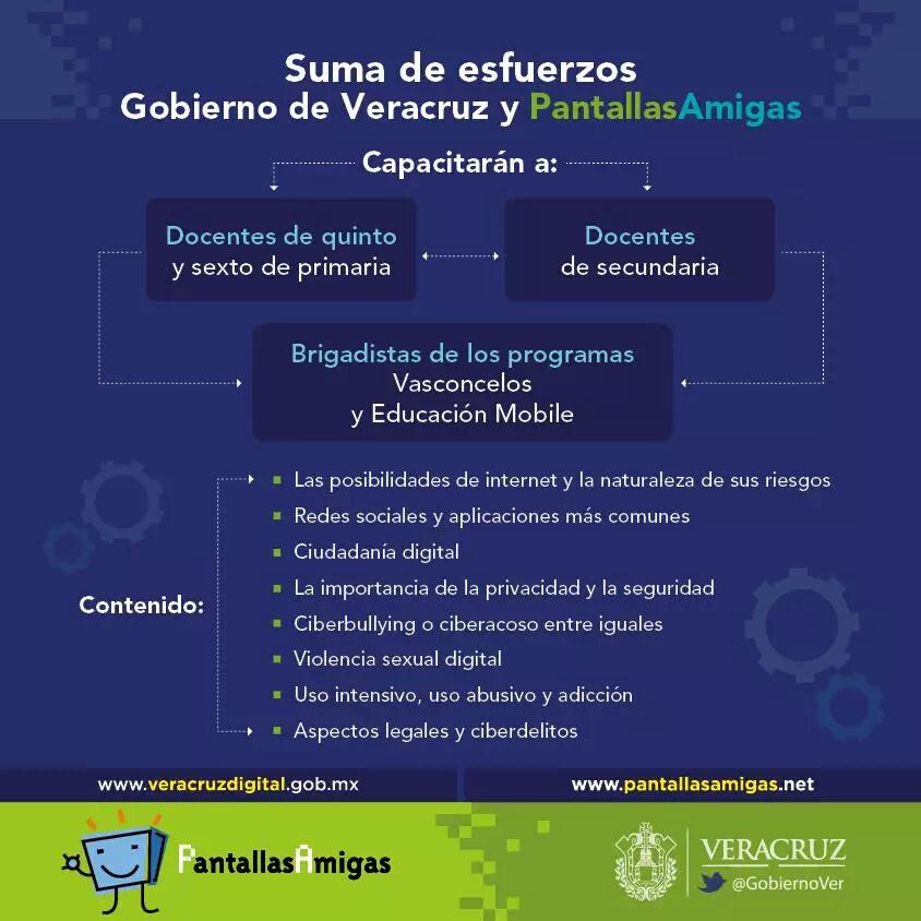 Acuerdo_Gobierno Veracruz_PantallasAmigas_Capacitación_y_Formación