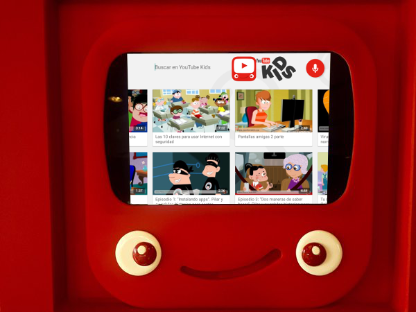 Contenido educativo de PantallasAmigas en la app YouTube Kids