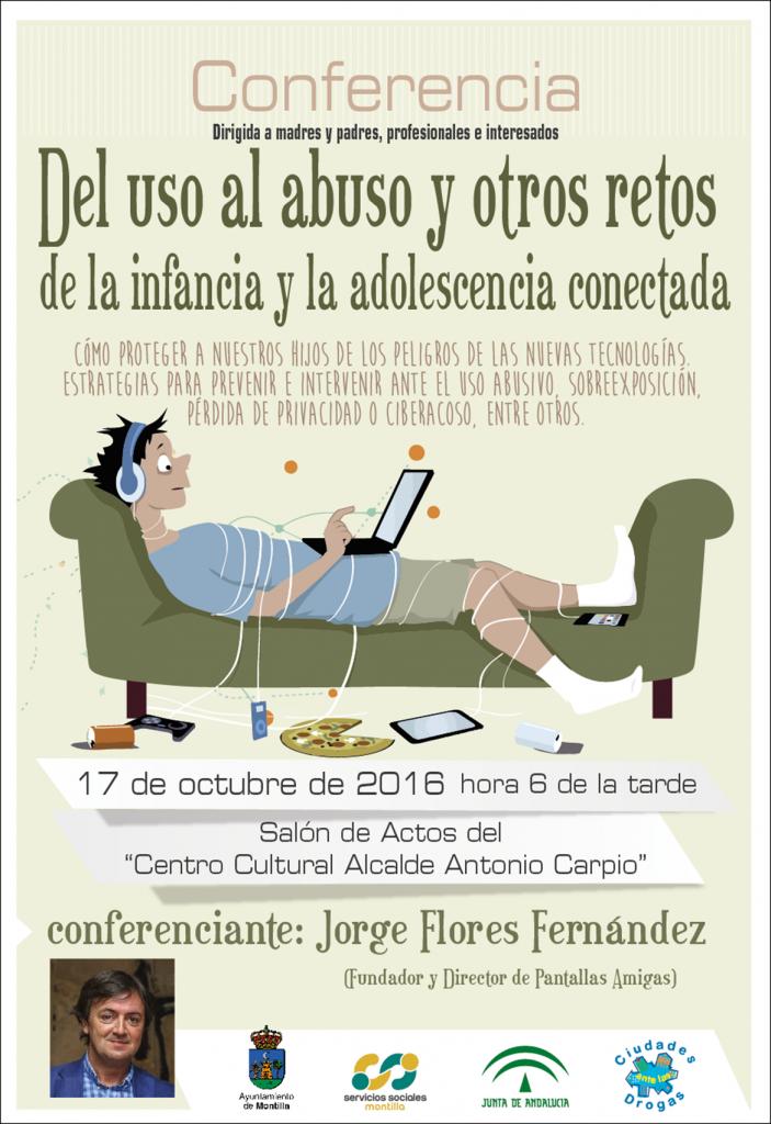 Conferencia-Montilla-Córdoba-PantallasAmigas-Uso-Abusivo-TIC-Infancia-Adolescencia