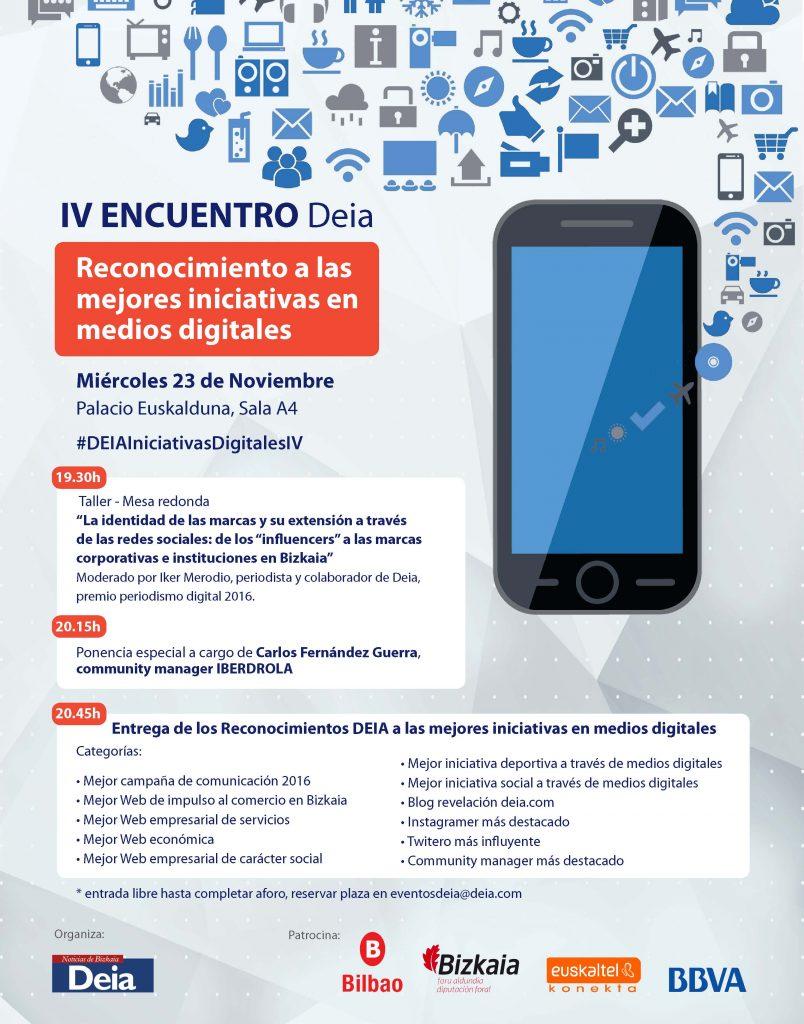 IV Encuentro Deia Reconocimiento a las mejores iniciativas en medios digitales