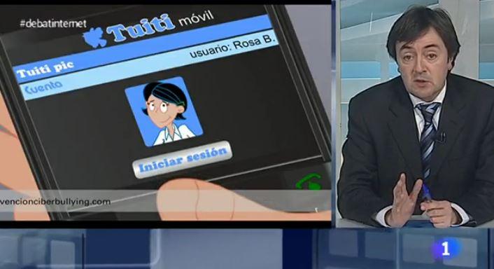 Jorge Flores participando en televisión en un debate sobre la privacidad y el tratamiento de los datos personales en Internet