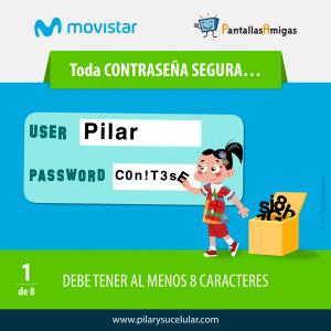 Movistar PantallasAmigas Clave contraseña segura 1
